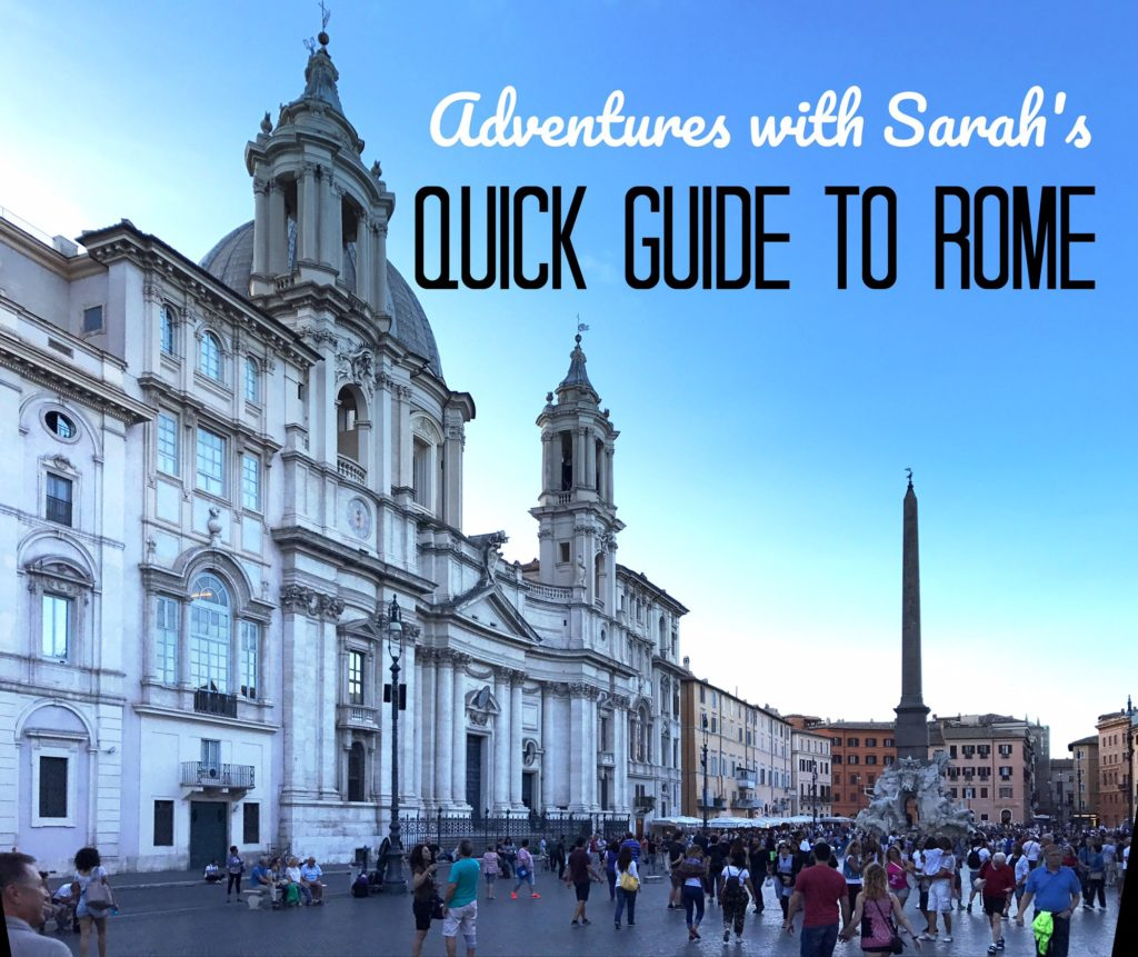 Adventureswithsarah.net Guide to Rome