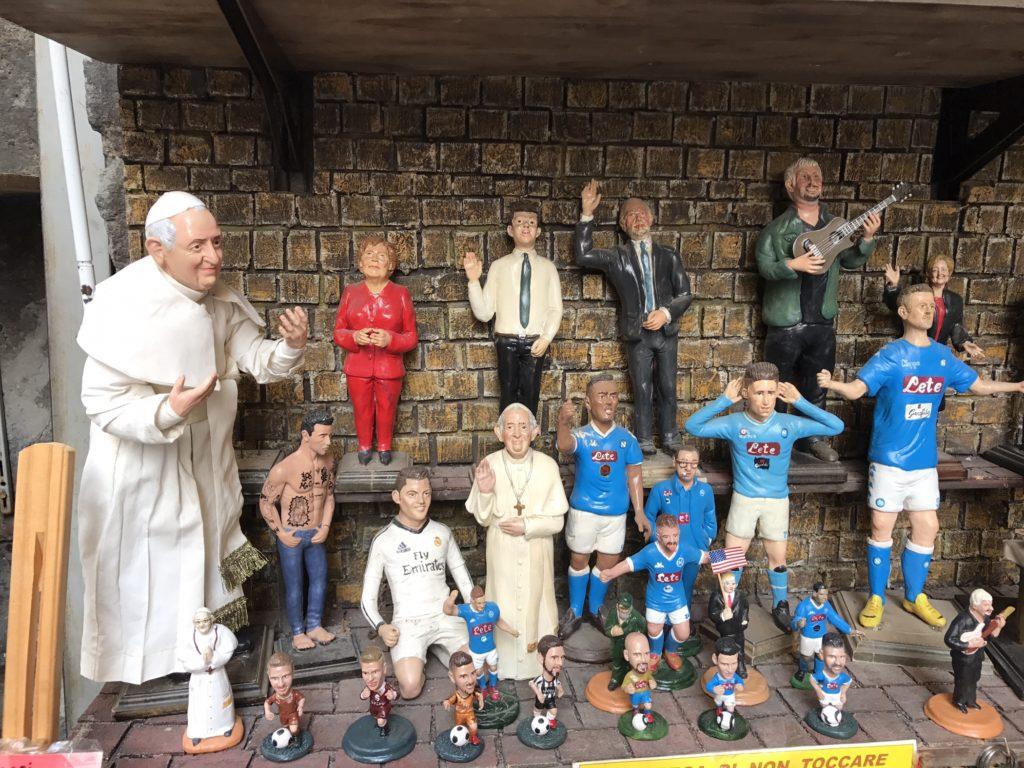 Naples, nativity scene characters