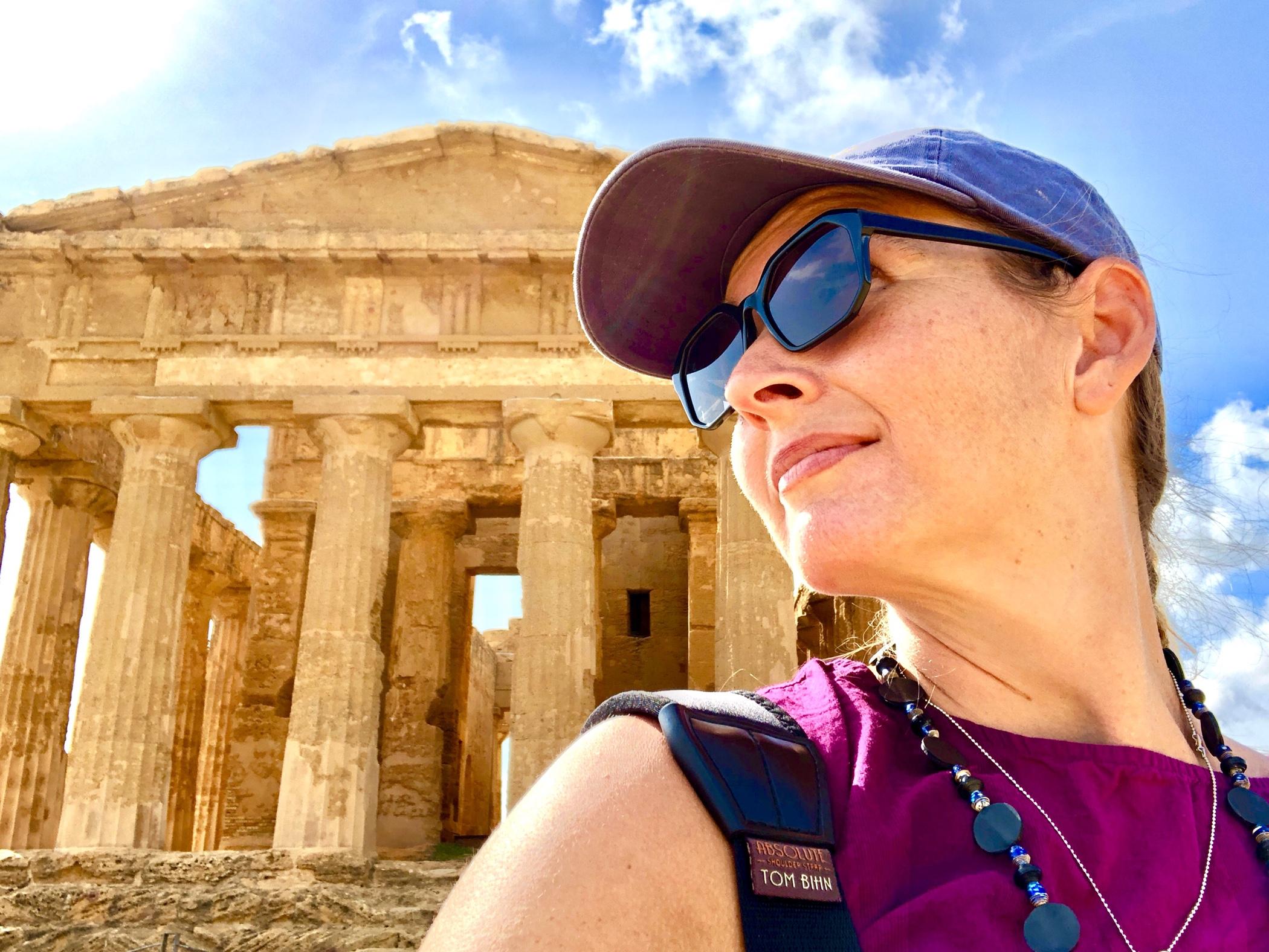 Sarah Murdoch in Sicily