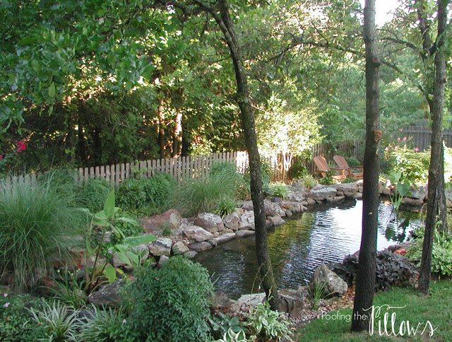 Building a backyard pond with waterfall, backyard ponds and water features, water features, waterfalls, DIY water features, DIY backyard pond. water gardens