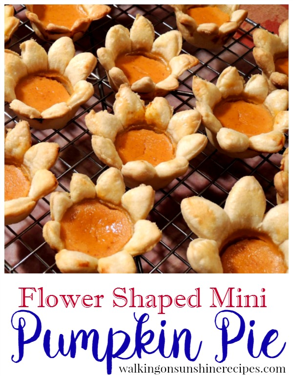 Flower Shaped Mini Pumpkin Pie from Walking on Sunshine Recipes short promo