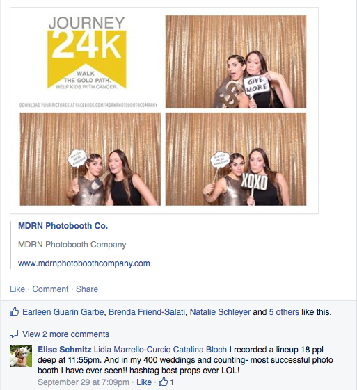 A Bling And Gold Photobooth To Benefit Journey 24K