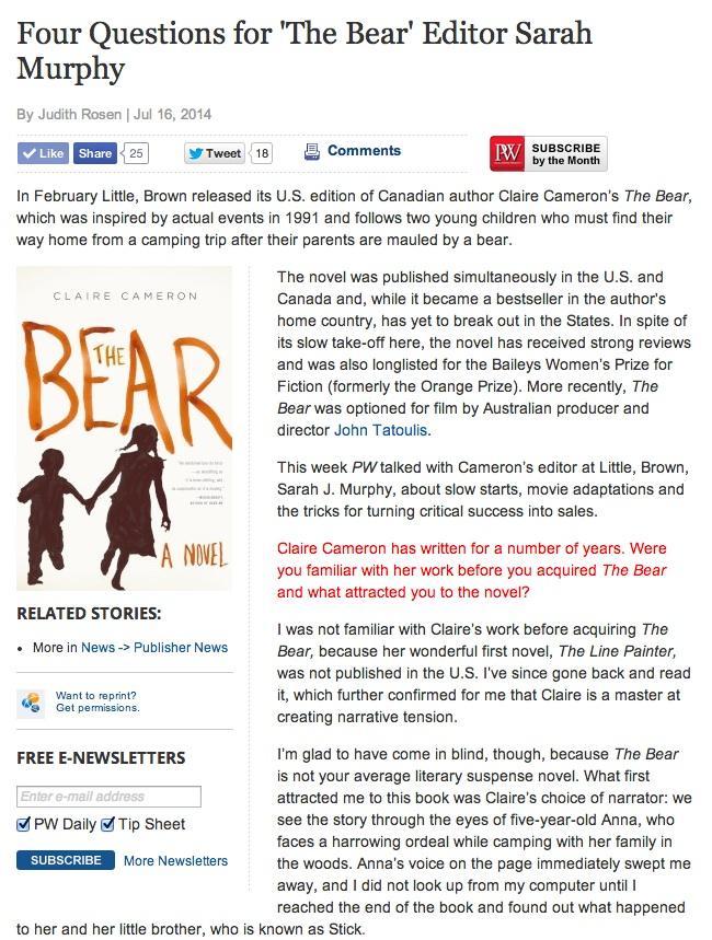 publishers-weekly-sarah-murphy