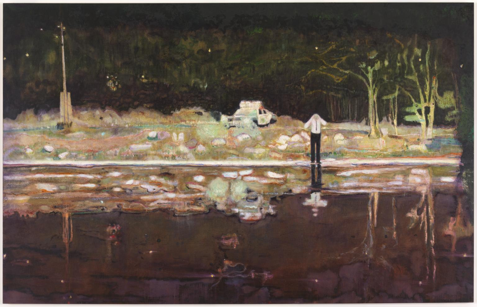 Echo Lake 1998 Peter Doig born 1959 Presented by the Trustees in honour of Sir Dennis and Lady Stevenson (later Lord and Lady Stevenson of Coddenham), to mark his period as Chairman 1989-98, 1998 http://www.tate.org.uk/art/work/T07467
