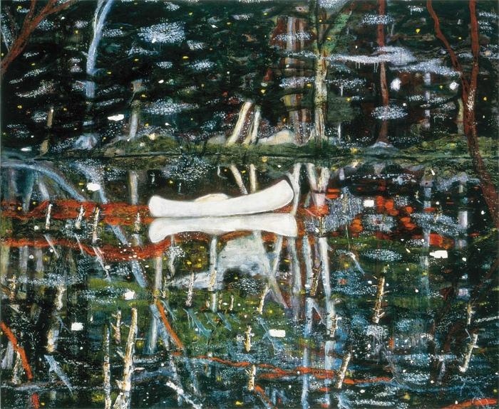 White Canoe, 1990-1991, Peter Doig