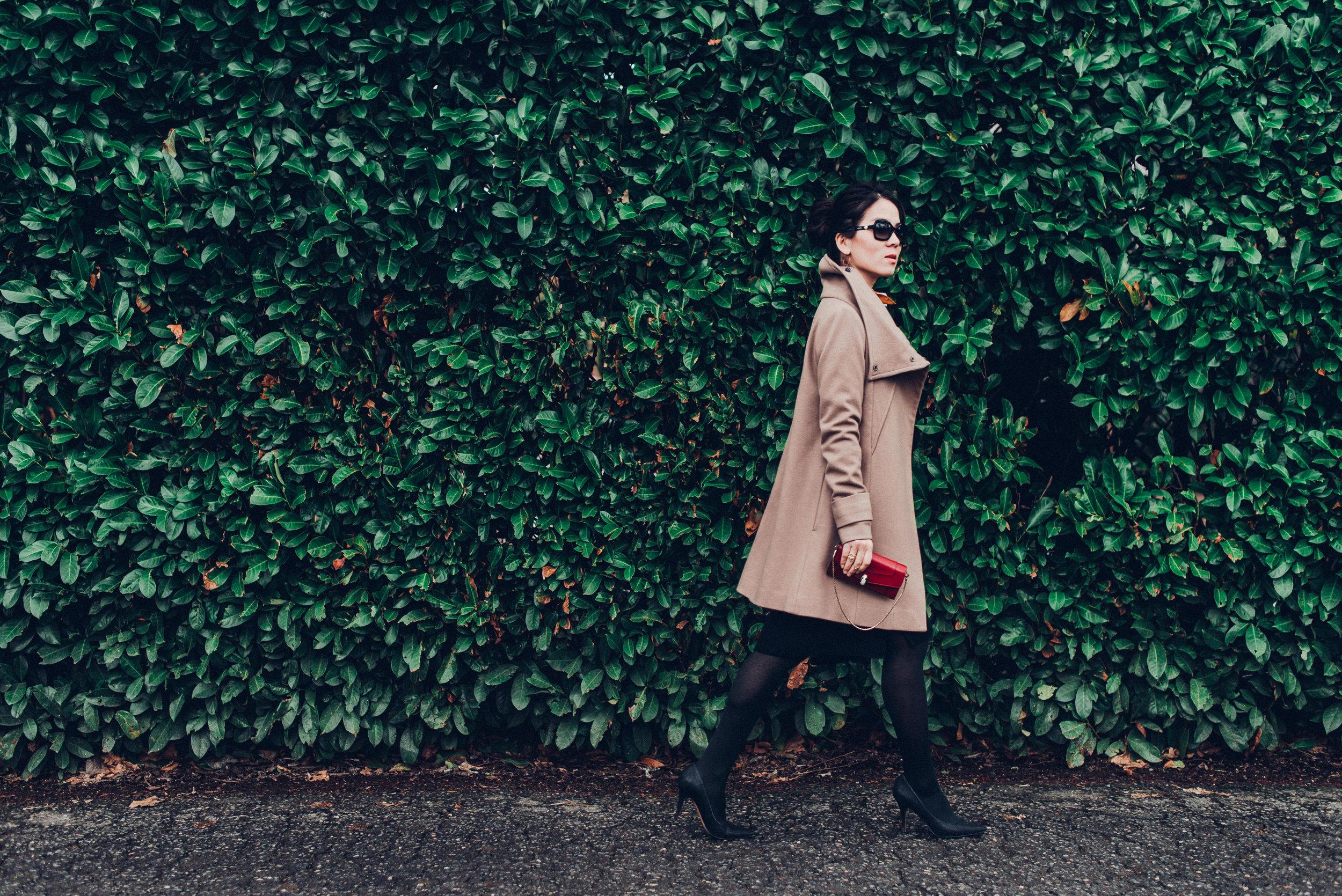 Black sandro sweater dress with scarf-8082
