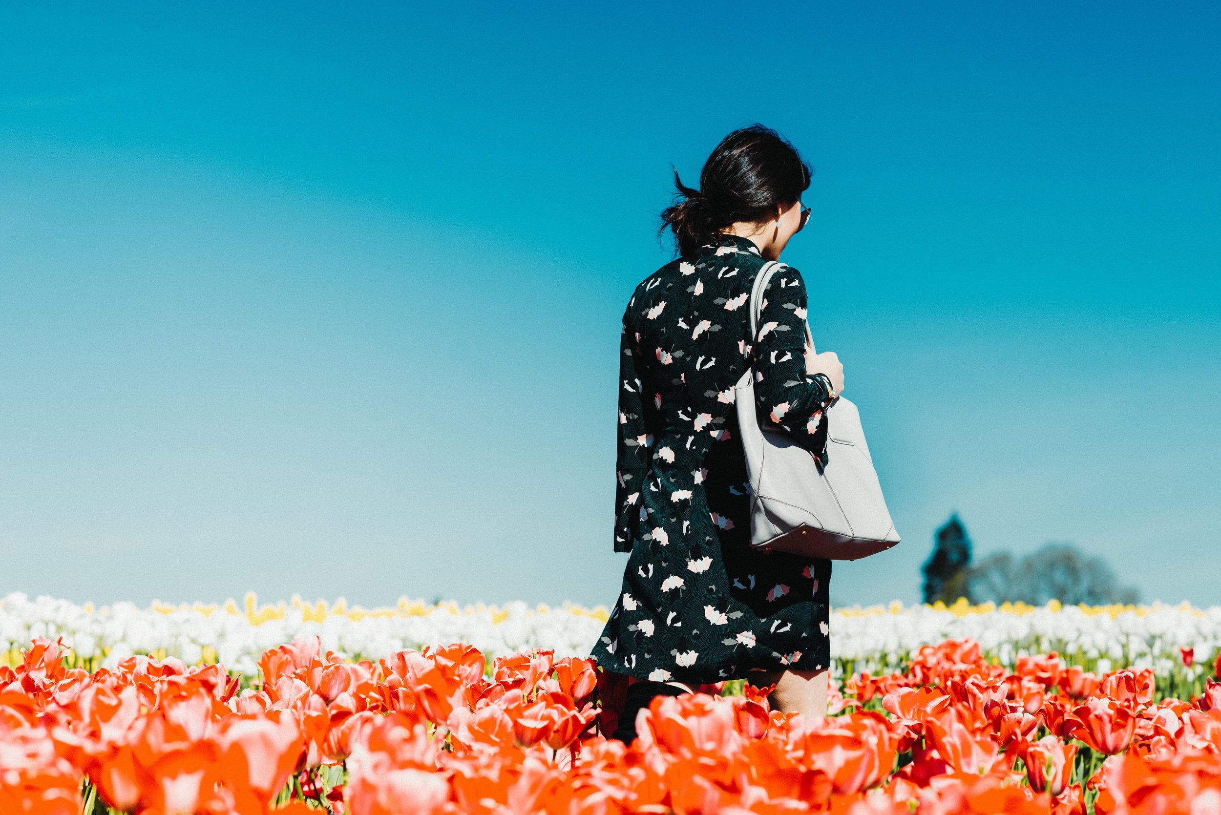 green floral dress tulip farm-2674