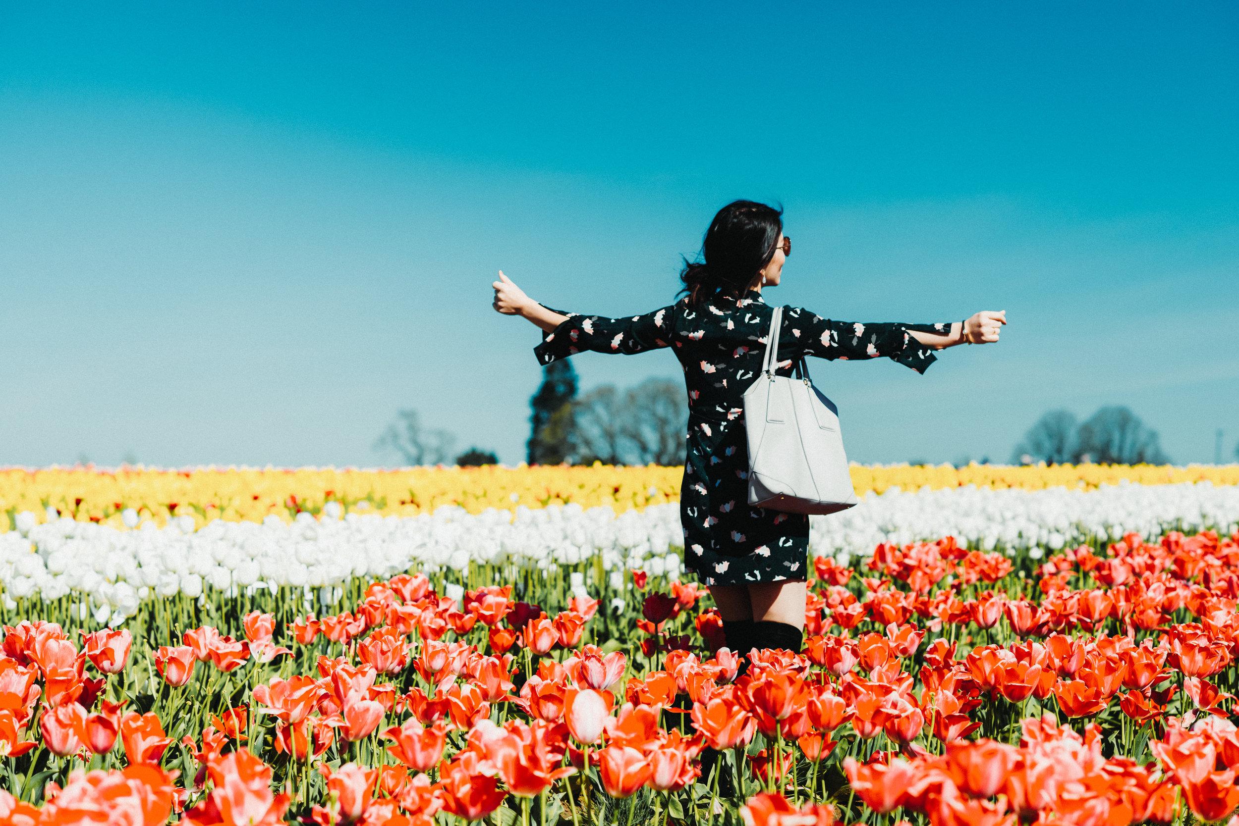 green floral dress tulip farm-2726