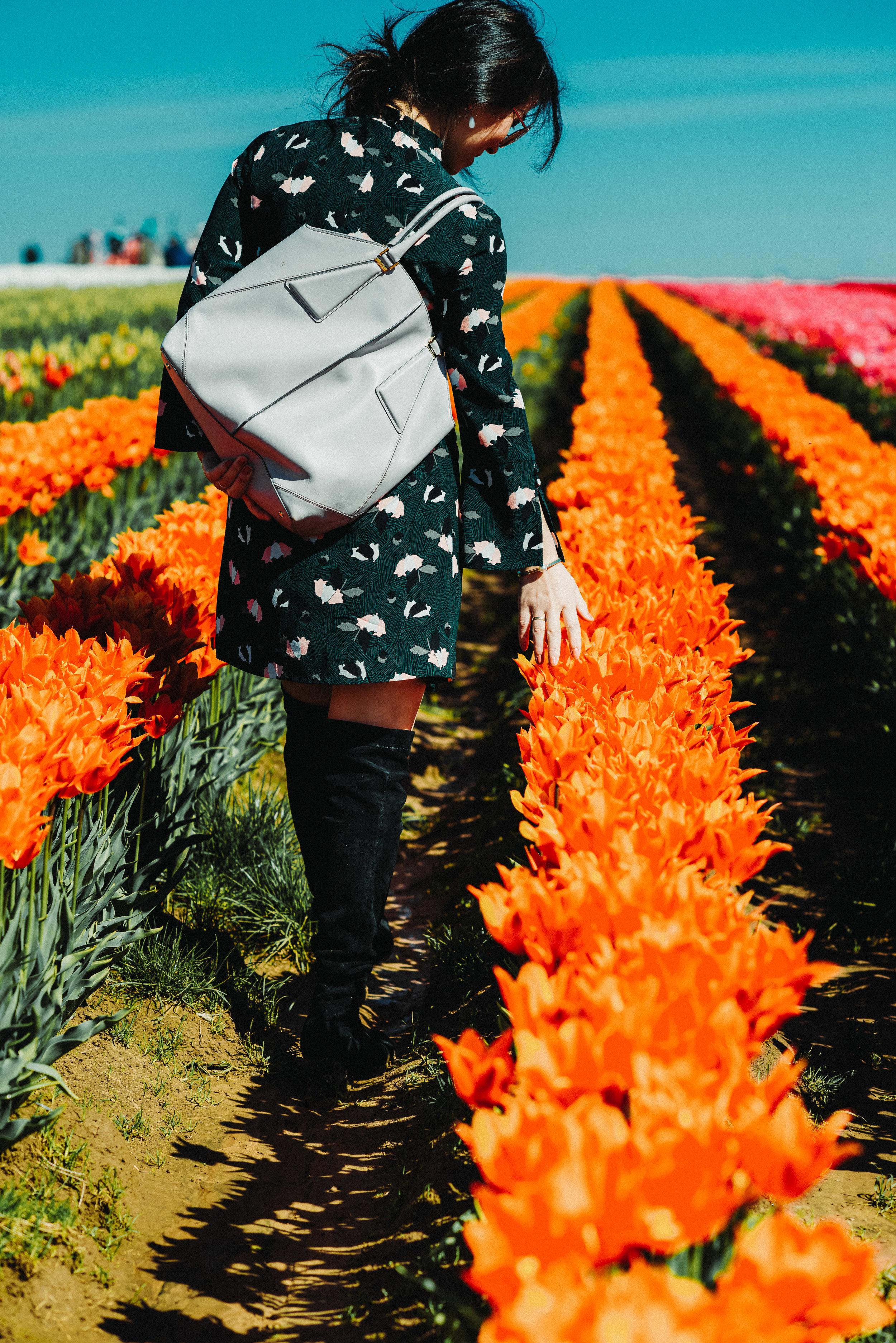 green floral dress tulip farm-2927