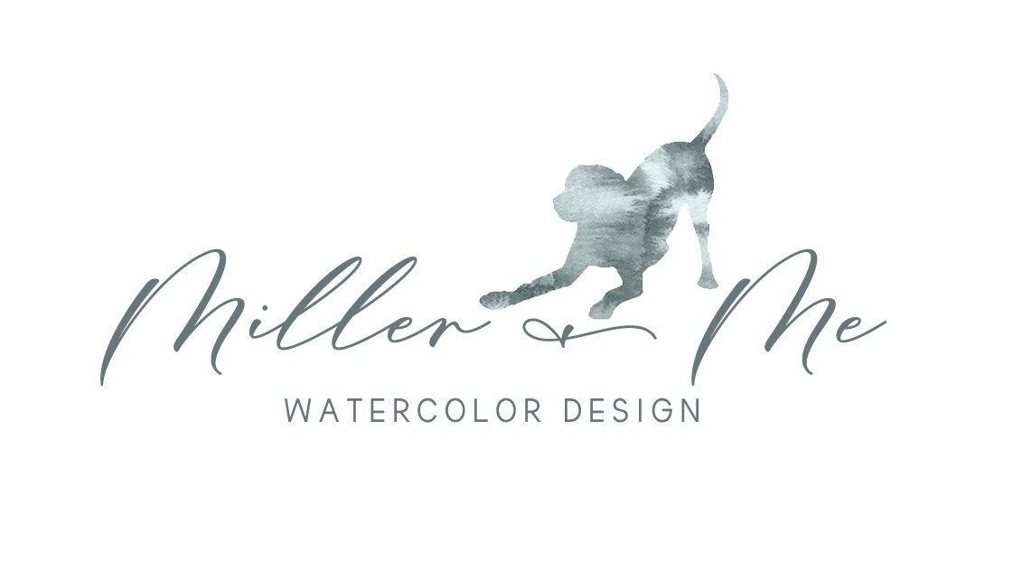 Miller & Me Watercolor Design