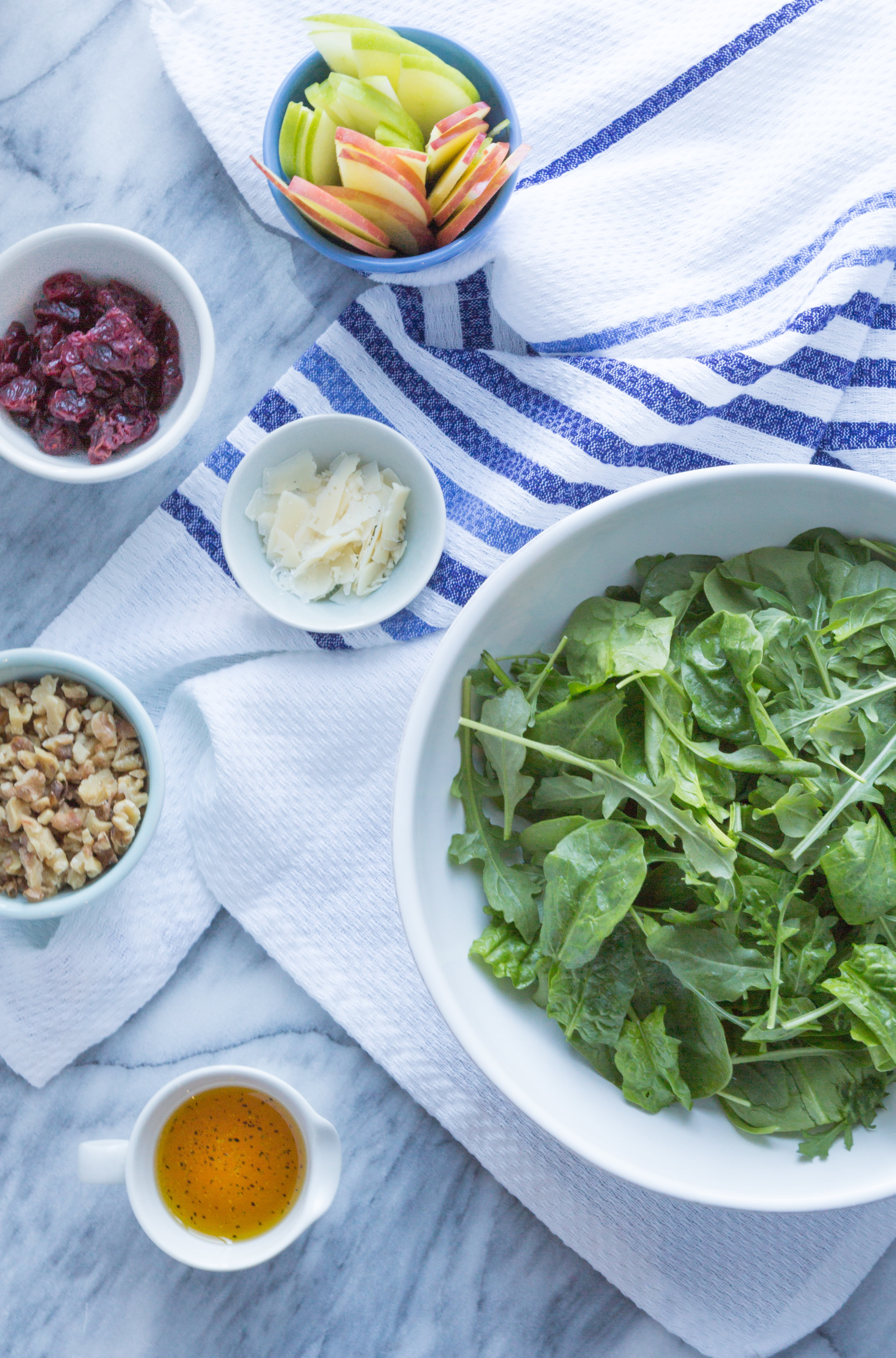 Winter Salad with Cranberries, Walnuts and Apples | Soymilk + Honey
