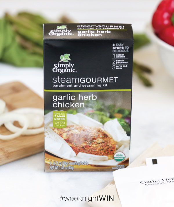 Simply Organic Steam Gourmet Garlic Herb Chicken | Soymilk + Honey
