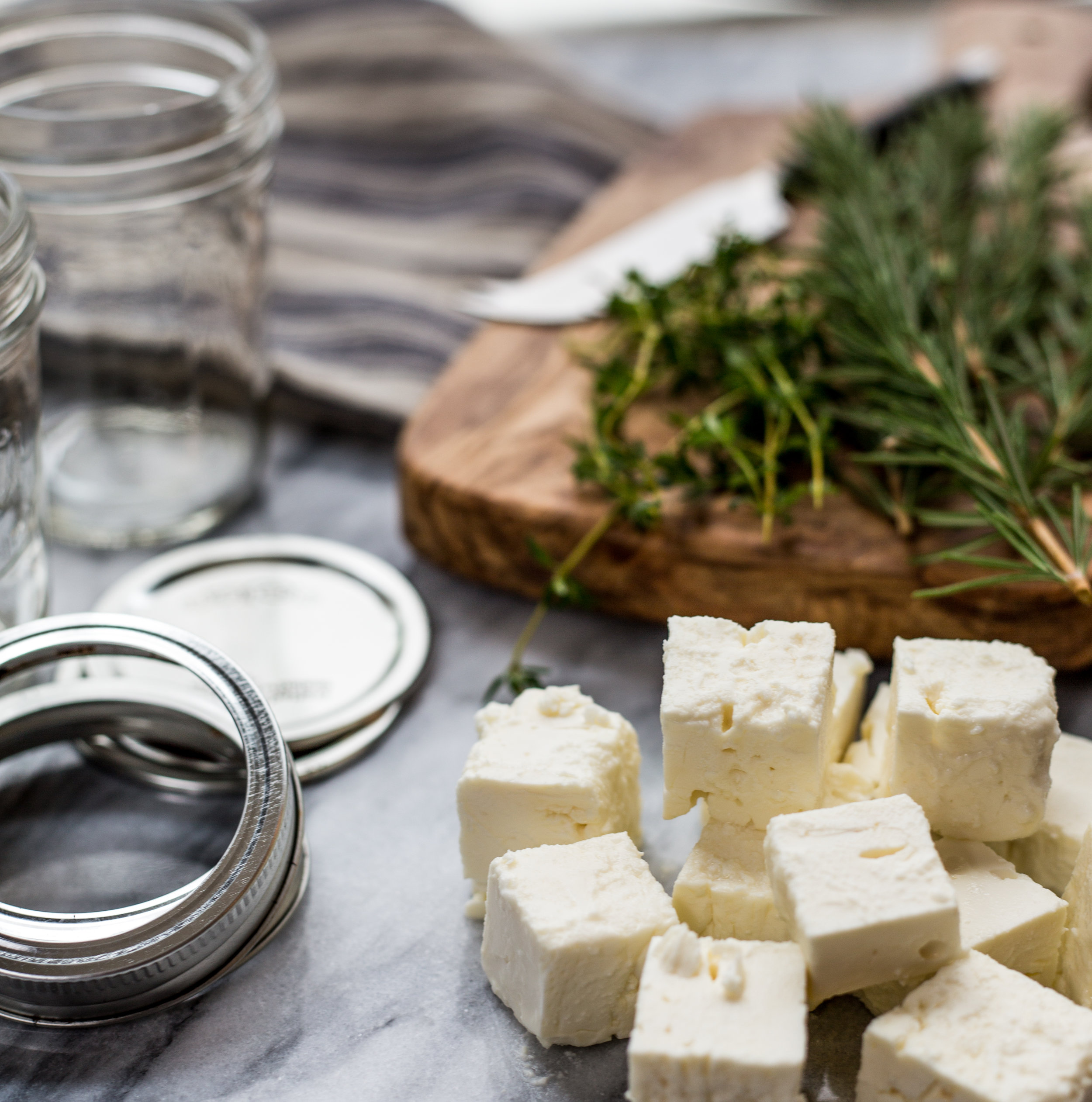 Herbed Feta Cheese in Olive Oil | Soymilk + Honey