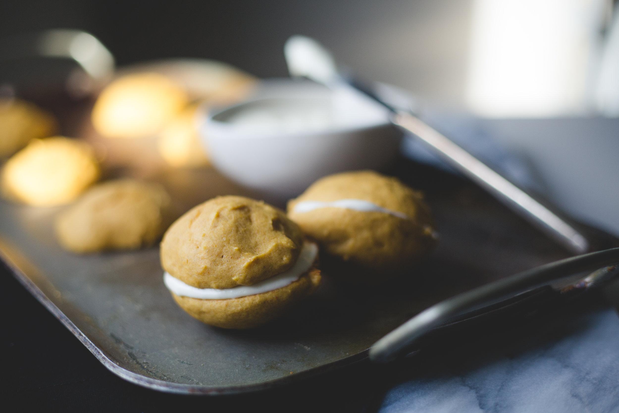 Pumpkin Cream Sandwich | Soymilk + Honey