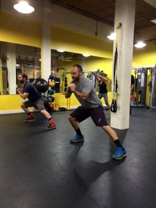 Siteworks Portland team training at the Art of Personal Training here in Portland, Oregon.