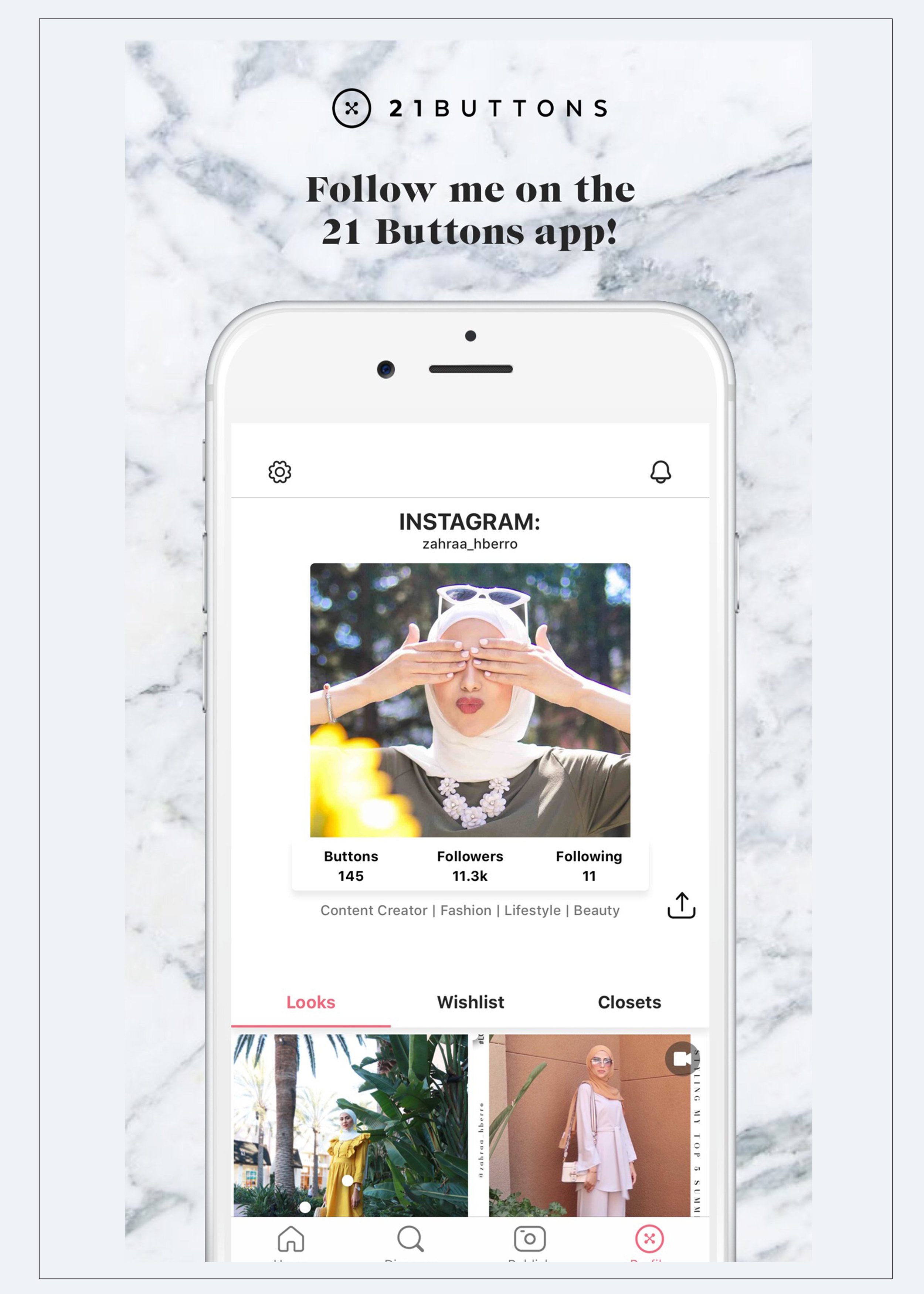 You Can Shop All My Looks On The 21 Buttons App — Zahraa Berro