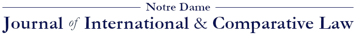 Notre Dame Journal of International & Comparative Law
