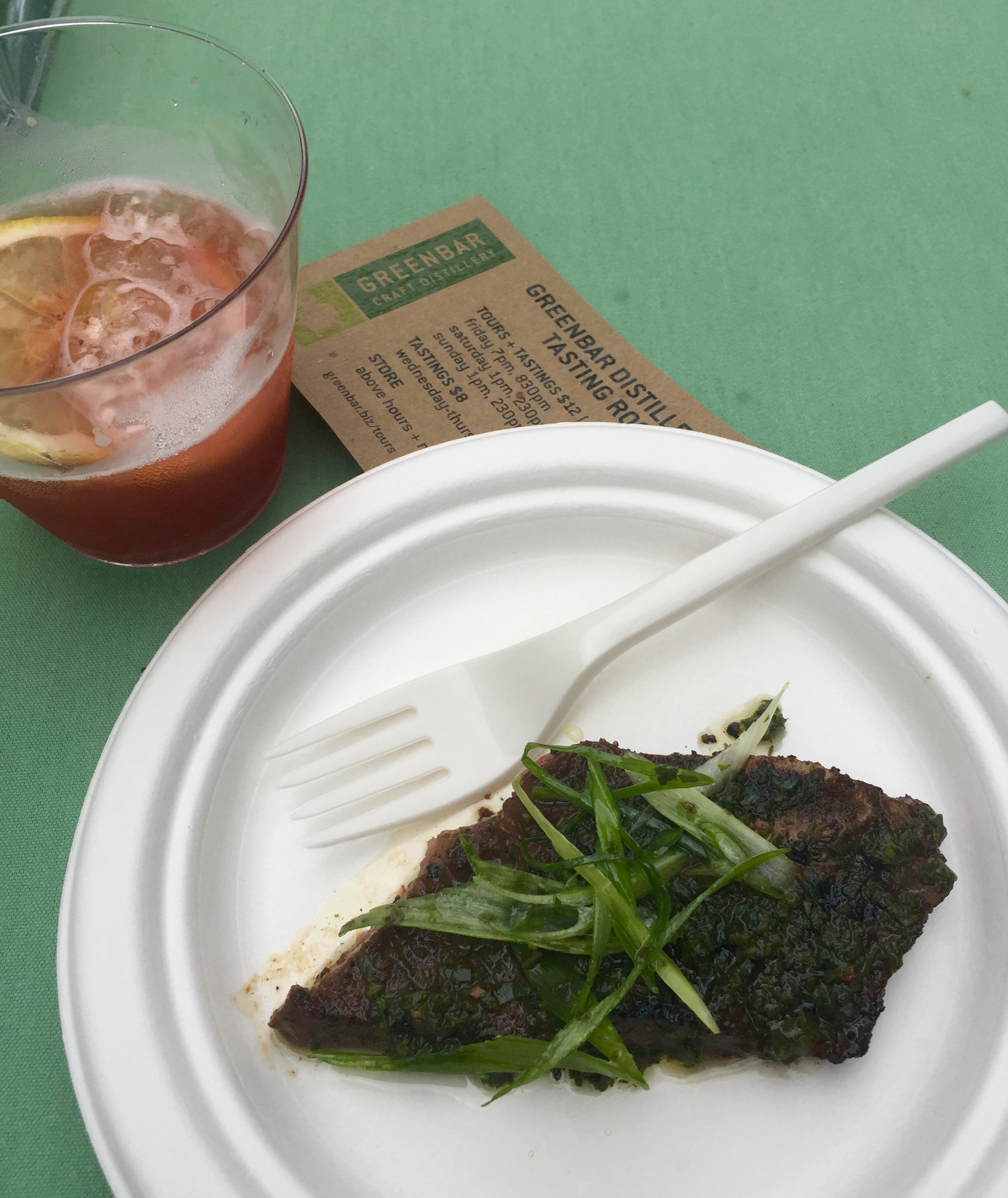 Delectable Porcini Rubbed Short Ribs with Salsa Verde and Scallions from Spacca.