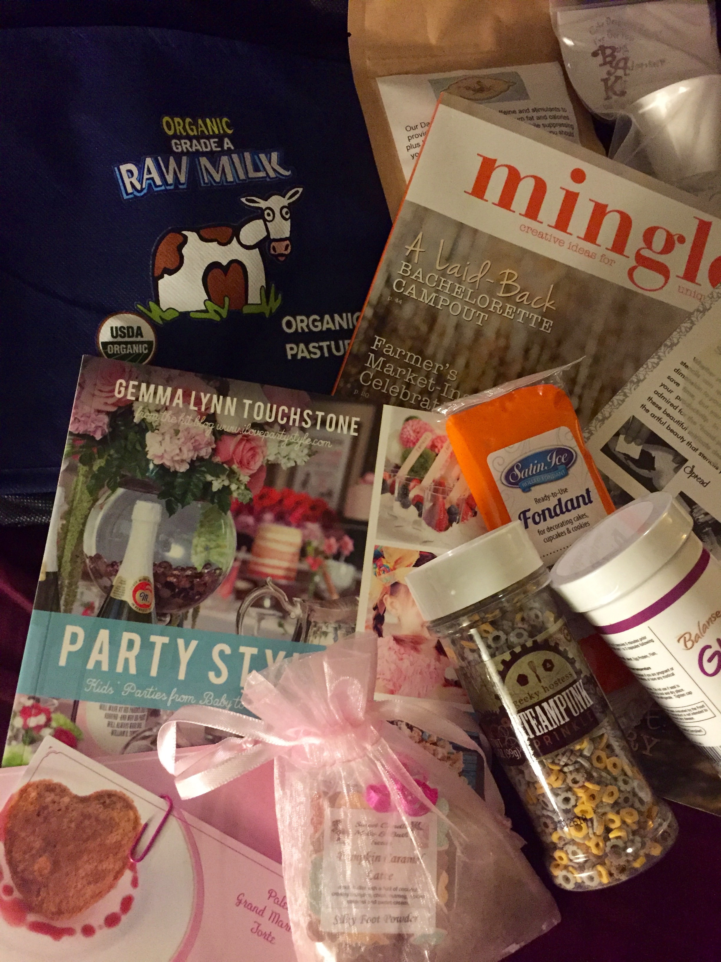 Inside the exclusive Blogger Bag full of lots of goodies, including