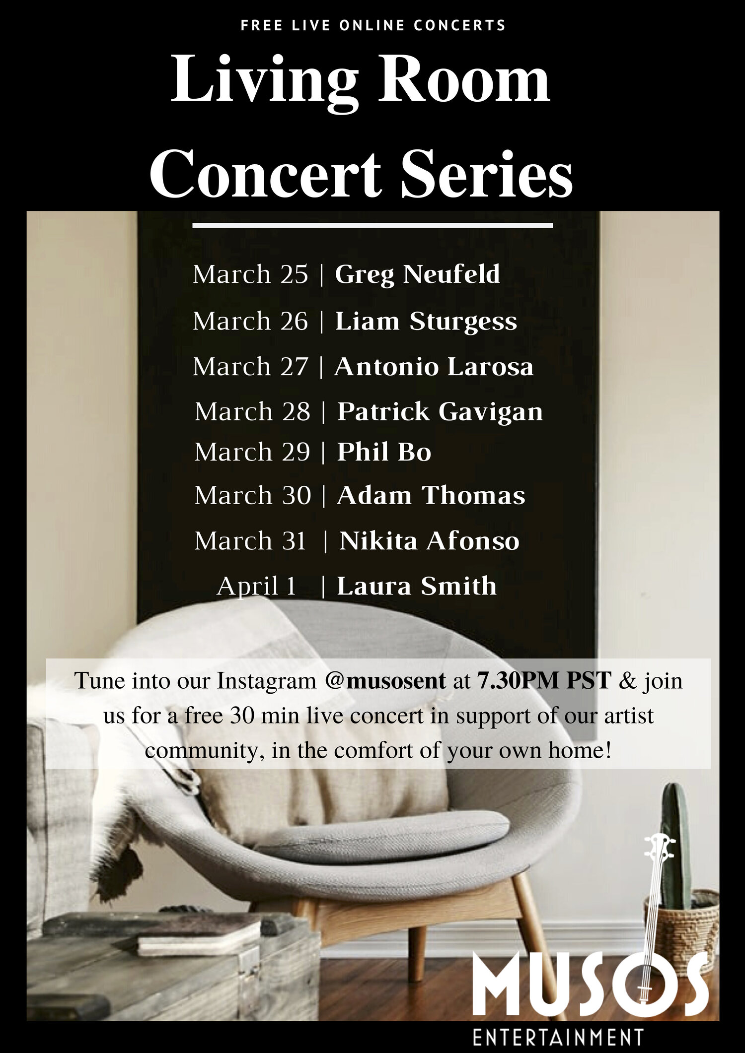 Living Room Concert Series Poster