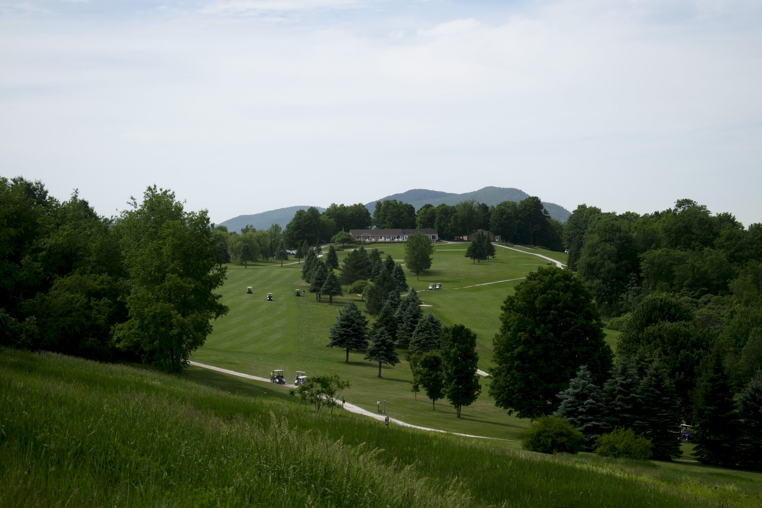 Scenic mountain views await golfers in the club house below. Photo by Olivia Nye.