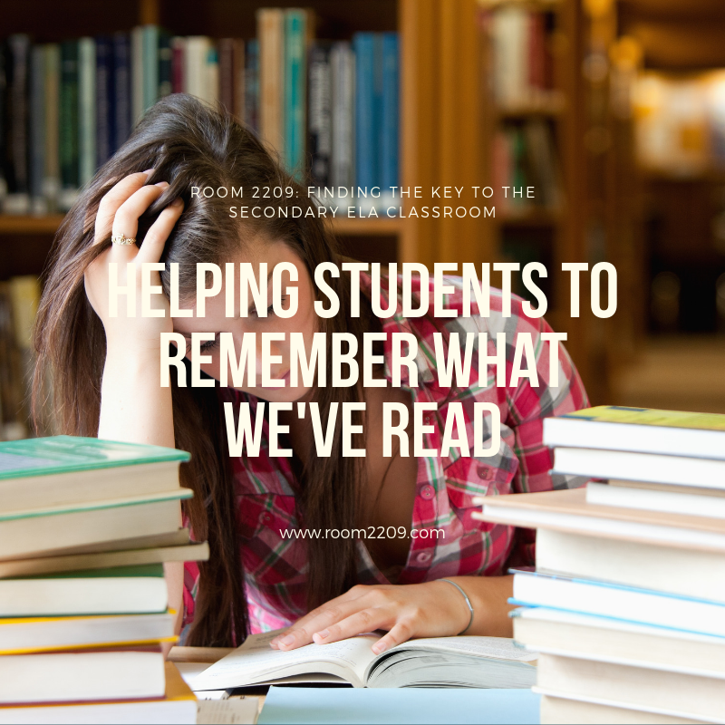Helping Students to Remember What We've Read