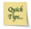 Quick Tips Post It