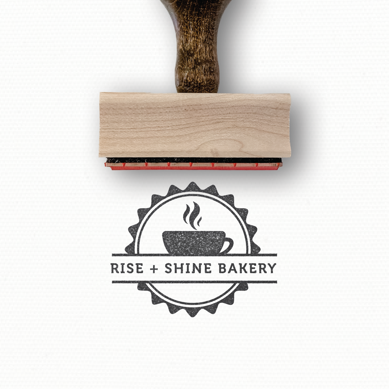 Sunshine Bakery Coffee Roaster Logo Design Home Brew Coffee Custom Packaging Custom Rubber Stamp Custom Stamp Cafe Custom Logo Stamp