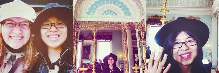 With best friend, Kenwood House's pastel library, Pastel nails at Kenwood