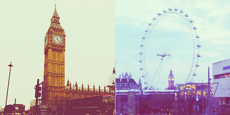 London Sights - Big Ben, London Eye
