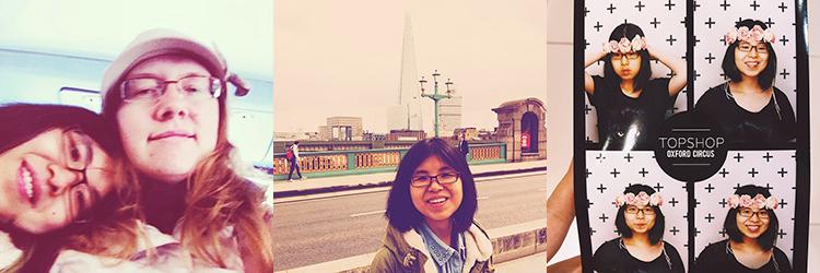 On London Bus, Walking Southwark Bridge, At Topshop photobooth