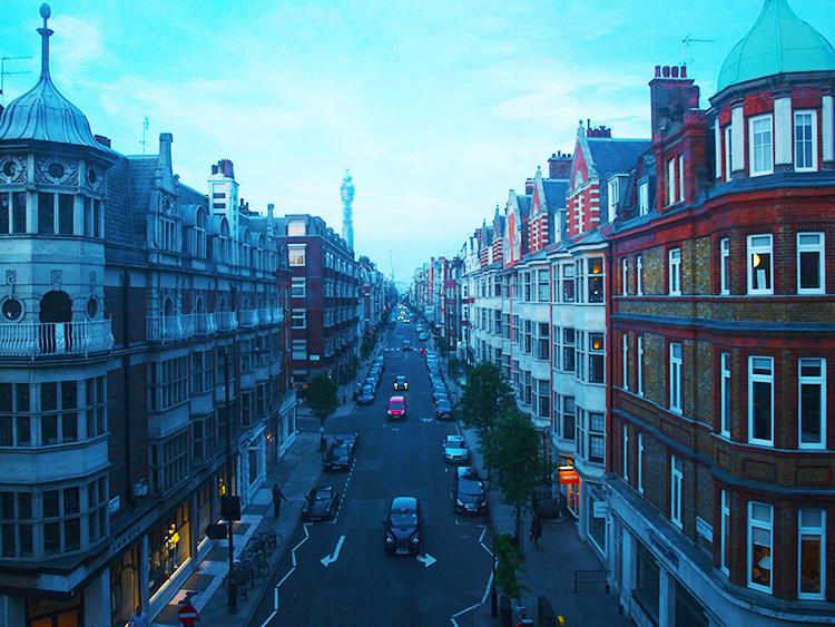View of Marylebone High Street, London