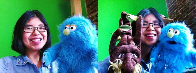 A Work Day with puppets