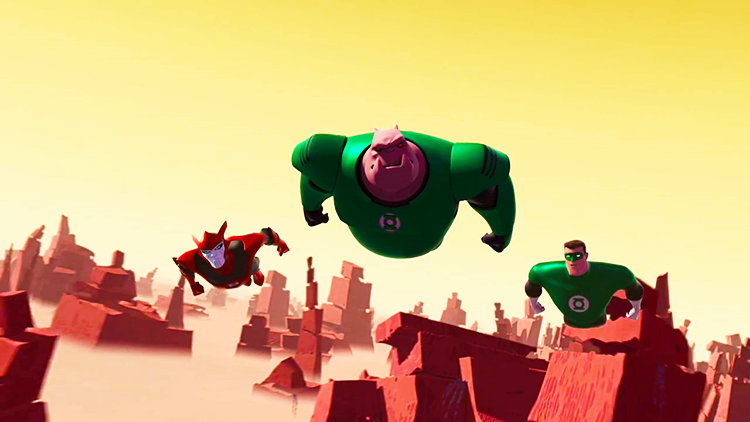 Green Lantern: The Animated Series - Razer, Kilowog, Hal Jordan