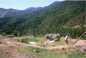 This is the Archeology site I worked at in British Columbia (this is however not my field crew but a subsequent year's).