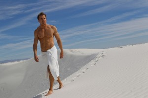 hot man in towel