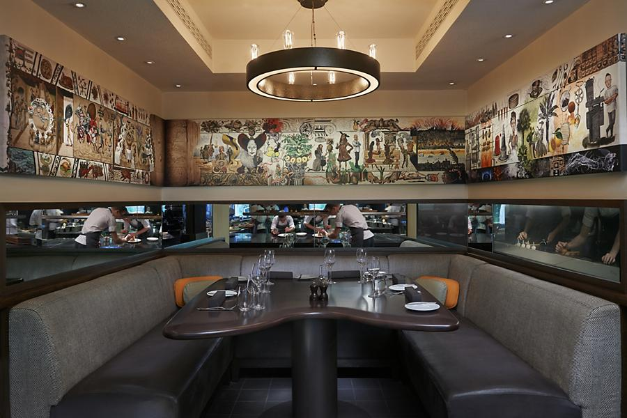 Booth at the Dinner by Heston restaurant in london