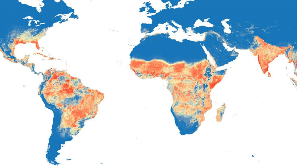 Zika risk map