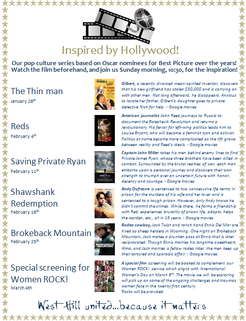 Inspired by Hollywood 2018 — West Hill United Church