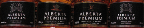 Alberta Premium 30 year old Canadian whisky, 25 year old and 5 year old