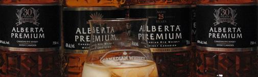 Alberta Premium Canadian rye whisky aged 30 years, 25 years and 5 years