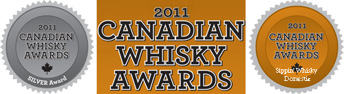 Alberta Springs Silver Medal and Sippin' Whisky Domestic Canadian Whisky Awards 2011