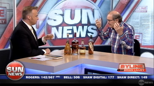 Canadian whisky on Sun News Byline show May 20, 2013