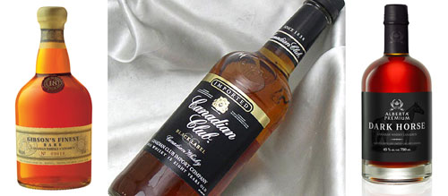 Three fine Canadian whiskies