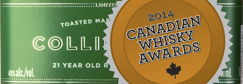 Collingwood is the best Canadian Whisky of 2014 - Whisky of the Year