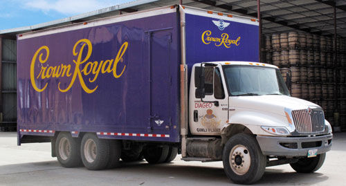 Crown Royal Truck at Gimli Distillery