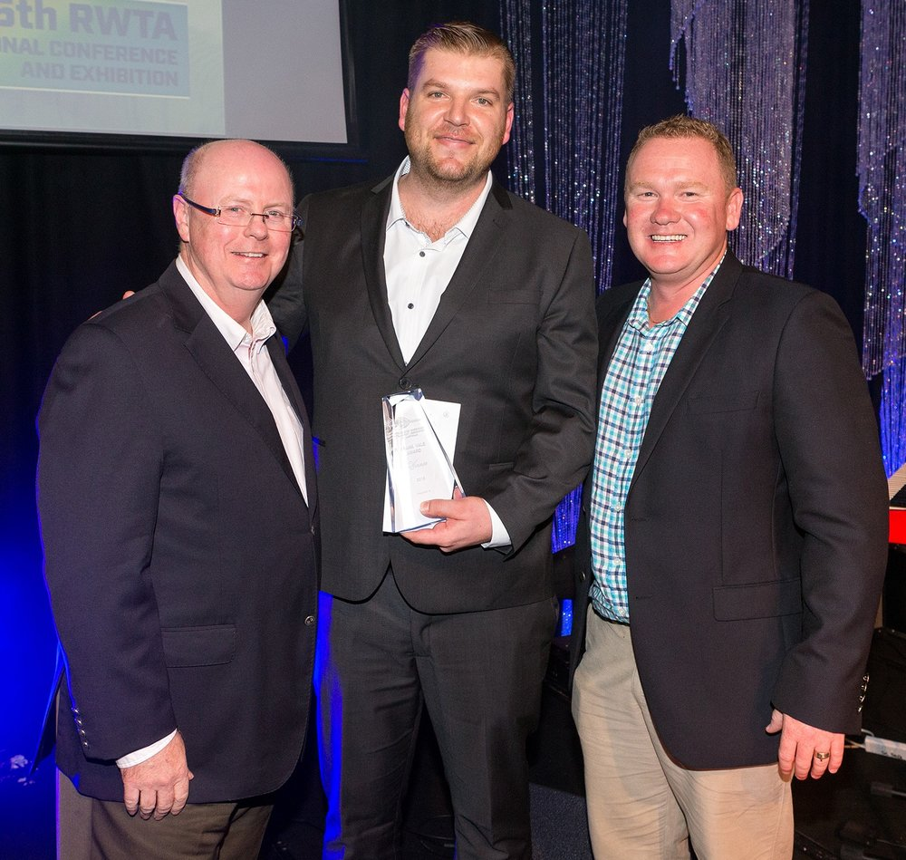 Pictured above (from left to right): David O'Brien (RWTA Chairman), Graeme Lee (Polar Fresh Cold Chain Services) and Shannon Porter (CEO – Retracom Contracting Pty Ltd)