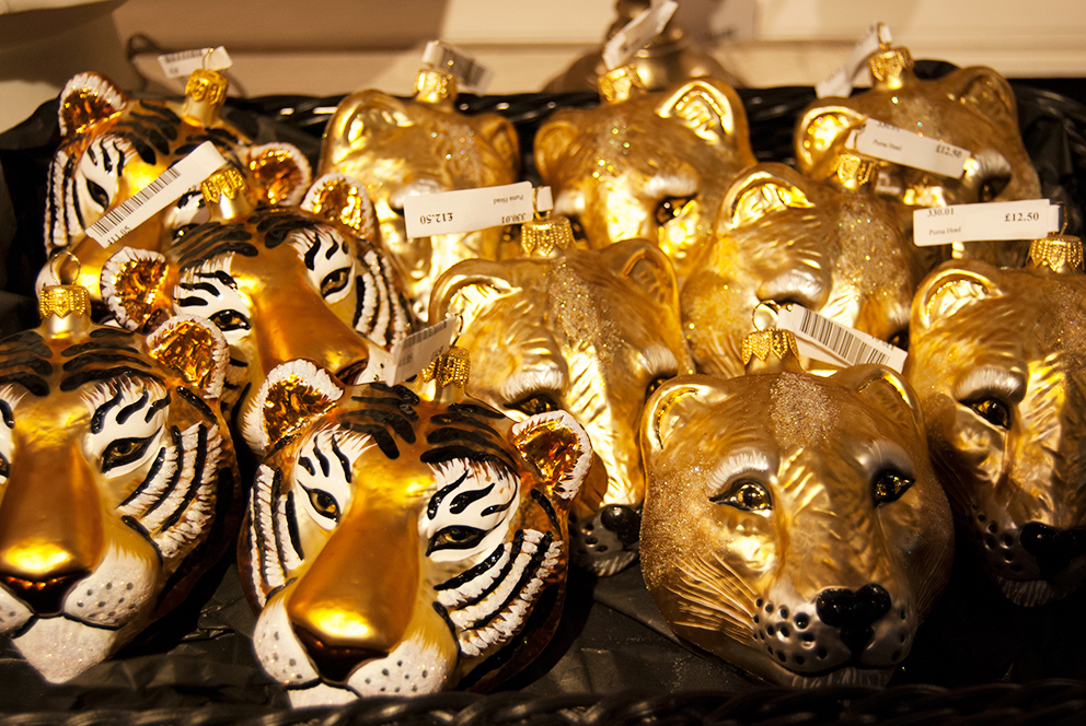 Tiger Head Christmas Tree Decorations