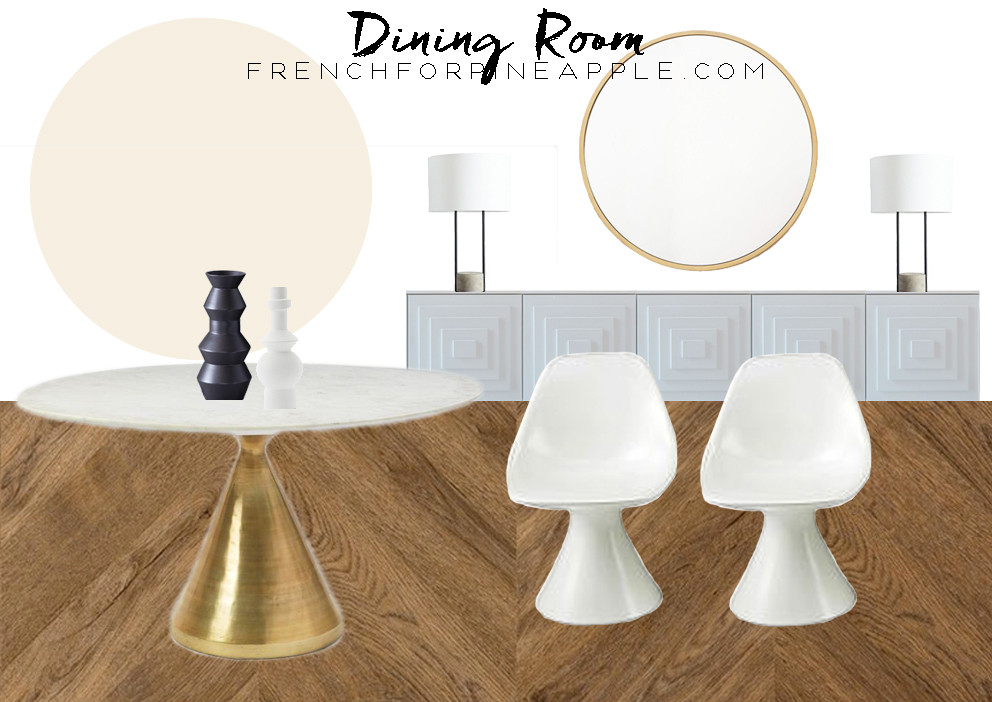 French For Pineapple Blog - West Elm Living & Dining Room Makeover Plans