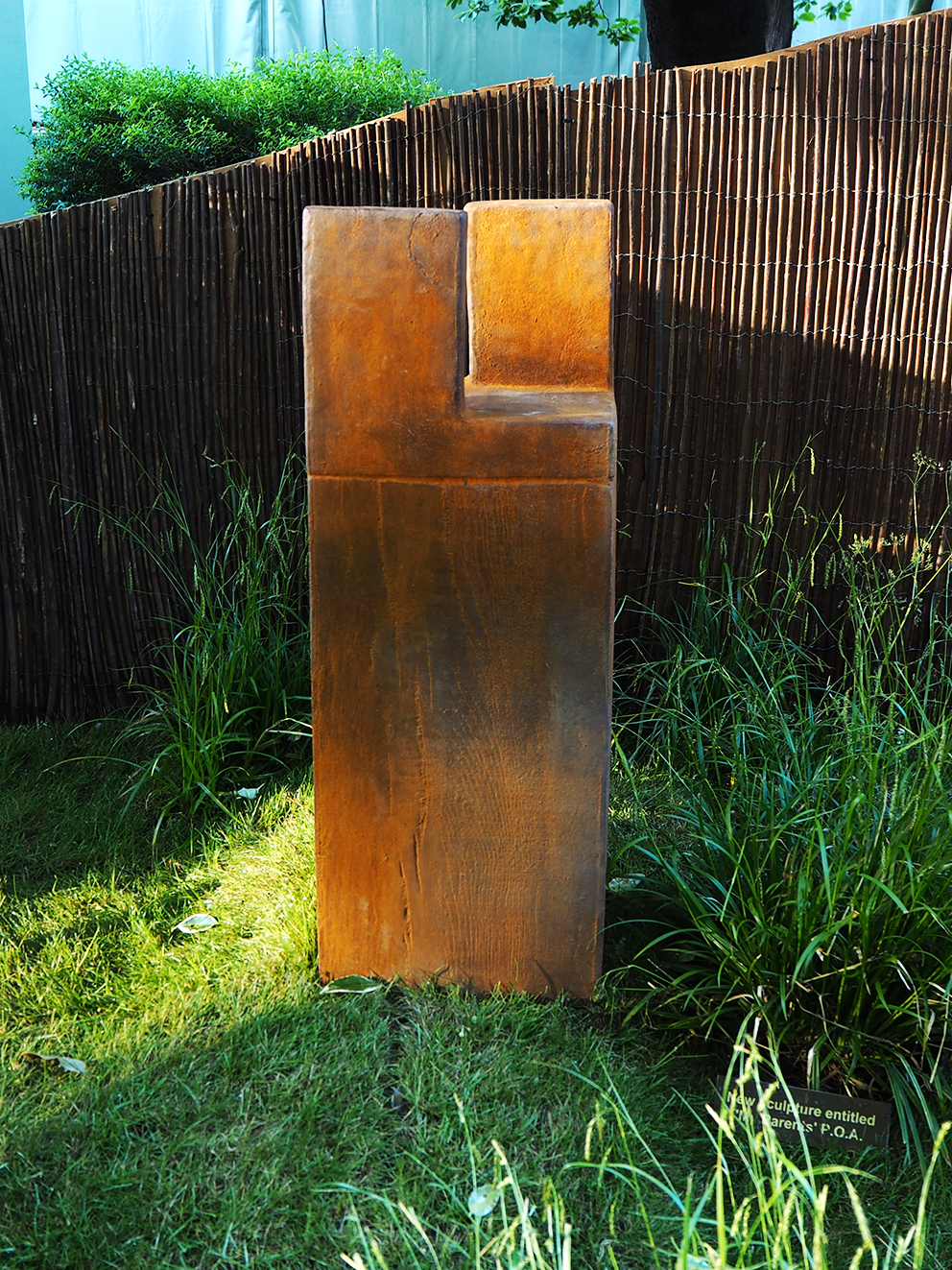 French For Pineapple Blog - RHS Chelsea Flower Show 2017 - modern rusted sculpture